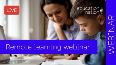"Free webinars ""Education Nation: tips for remote learning"""
