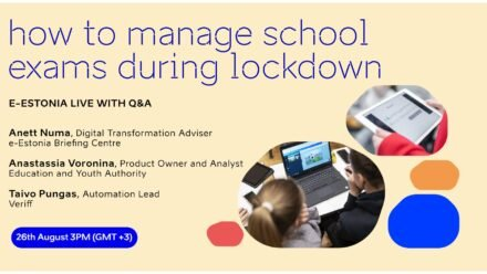 e-Estonia live: how to manage school exams during lockdown?